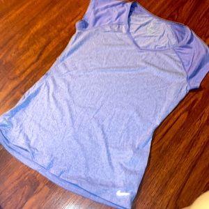 Nike Dri fit purple shirt size Medium